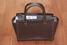 NWT Michael Kors $328 Selma Medium Stud Satchel Handbag Purse Cinder
