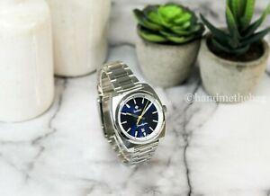 Zodiac (ZO9950) Grandhydra Ronda Swiss Silver Blue Dial Stainless Steel Watch