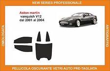 pellicola oscurante vetri aston martin vanquish v12 dal 2001-2004 kit completo