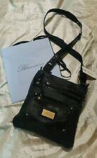 Blumarine borsa pouch hand bag col nero black nylon cm 25 x cm 25