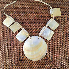 Sea Shell Pendant Necklace   Polished Natural Shells   Hand Made   Holley Day