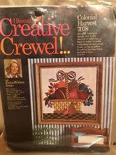 Vintage 1970 Creative Crewel COLONIAL HARVEST 7078 Erica Wilson Sealed