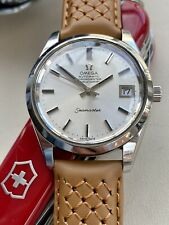 Omega Seamaster Chronometer Steel Vintage 35mm Leather Mens Automatic 1973 watch