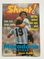 **DIEGO MARADONA / TREVOR FRANCIS UK SHOOT FOOTBALL MAGAZINE MARCH 1990**