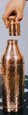 Copper Water Bottle Pure Coppered Hammered Pattern Syd Stock