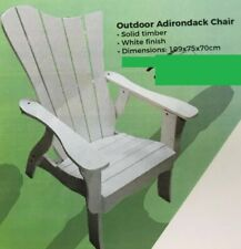 BRAND NEW OUTDOOR ADIRONDACK CHAIR SOLID TIMBER