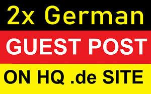 2x permanente Guest Posts Gäste Beitrag - DA 44 to DA60 Domain German Site SEO