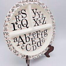 Toddler Child Plate Alphabet Letters Teacher Sugar Booger Melamine Divided