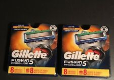 Lot of 2 - NEW Genuine Gillette Fusion 5 ProGlide Razor Blade Refills 8 Ct