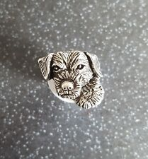 Border Terrier pin badge