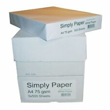Simply 1 box, 2500 sheets White A4 Paper 75GSM Photocopy & Printing Paper