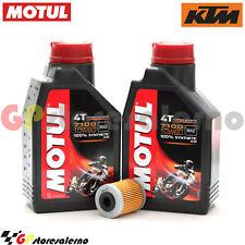 KIT TAGLIANDO OLIO + FILTRO MOTUL 7100 10W60 2L KTM 690 SMC 2011