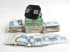 VIEW MASTER STEREOSCOPE WITH 100 REELS IN ORIGINAL BOX
