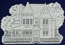 """Heritage Lace HOUSE (2)13"""" x 20""""  White Accents/Placemats and great for Crafters"""