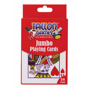 Tallon Games Pack of Plastic Coated Jumbo Playing Cards Family Fun