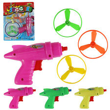NEW Children Kids Space Toy Plastic Flying Saucer Saucers Gun Set Play Gift US