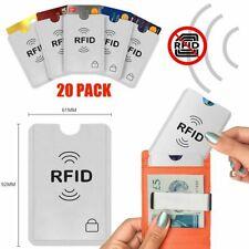 20 RFID Secure Credit Card Car Key Blocking Sleeves Holder Wallet Protector Case
