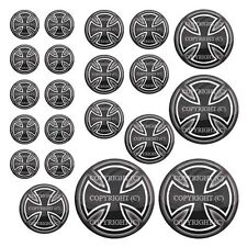 21 Premium Domed Round 3M Decal Sticker Set - IRON CROSS - 018