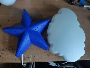 Ikea Upplyst Cloud & Smila Stjärna Star Wall Lamp