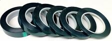"""(6) High Temp Powder Coating Green Polyester Masking Tape Size 3/8"""" Thru 1"""""""