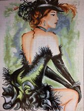 Gobelin Tapestry Needlepoint Kit Lady printed canvas 381
