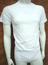 RALPH LAUREN WHITE STRETCH COTTON PREPPY CREWNECK LOUNGE TSHIRT SIZE L TO XXL