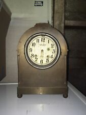 Antique CHELSEA CLOCK CO. Ships Bell Rare Solid Brass Mantel Shelf Clock