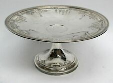 "VINTAGE DOMINICK & HAFF STERLING SILVER 9"" TALL FOOTED CAKE STAND #8810"