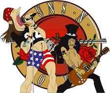 "Guns N' Roses Hard Rock Music Bumper Sticker 5"" x 5"""
