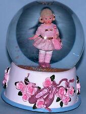 """Madame Alexander resin doll """"Pink Ballet Class"""" #90580, musical Water Globe"""