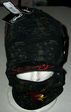 Ed Hardy Snow hat cap Ski Board Sled winter face mask earphone pocket heart Xmas