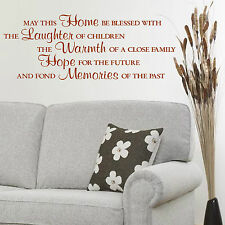 May This Home Be Blessed With The Laughter Of Children VINYL WALL ART STICKER