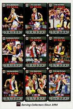 2010 AFL Teamcoach Trading Card Prize Card Team Set St. Kilda (12)