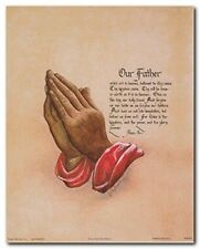 The Lord's Prayer Motivational And Inspirational Religious Wall Art Print (8x10)