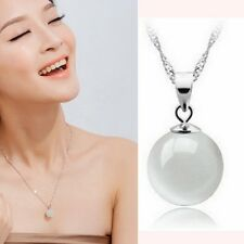 Korean Womens 925 Sterling Silver Natural Opal Necklace Pendants Jewelry Hot