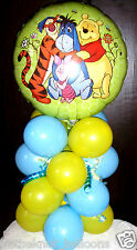 "18"" FOIL BALLOON TAVOLA DISPLAY DISNEY Pooh Orso Tigro Ih-Oh by-Aria Riempire"