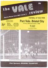 PORT VALE V bristol city programma 1986 mano originale firmato il 22 x firme