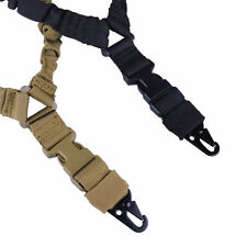Adjustable One 1 Single Point Bungee Rifle Sling Hook W/ QD Buckle Safty Belt US