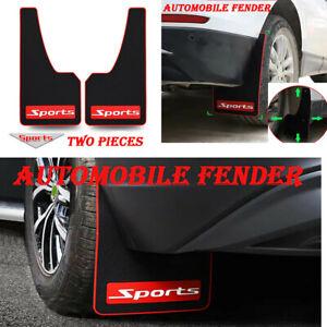 2pc Sports Rear Mud Flap Flexible Rubber Mudguard Splash Guards Car Accessories