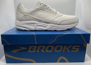 NEW IN BOX Brooks Addiction Walker 110039 Walking Shoe Men White 10 2E