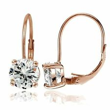 Leverback Round Rose Gold Fine Earrings