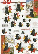 Feuille 3D Pyramides à découper A4 - 630-152 Chien Terrier - Decoupage Dog