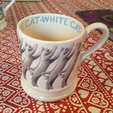 Emma Bridgewater White Cats 0.5pt Mug New Best