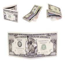 Mens Dollar Leather Wallet Men's Small Slim Bifold Wallet Credit Card ID Holder