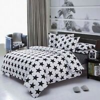 Black and white NEW Single King Single Double Queen Size Bed Quilt Duvet Cover