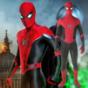 Spider-Man Far From Home Jumpsuit Spiderman Cosplay Costume Adult Kids Halloween