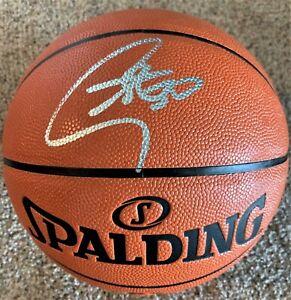 Steph Curry Signed Full Size Basketball Autograph Auto Fanatics Hologram Bold !