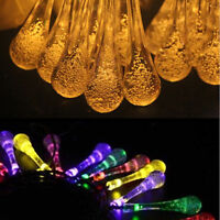 Outdoor 20 LED Solar Powered Fairy String Lights Garden Christmas Wedding Party