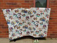 VTG Disney ABC Twin Blanket Mickey, Minnie, Donald, Goofy, Pluto by Chatham USA