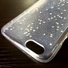 For iPhone 6+ / 6S+ Plus - HARD TPU RUBBER GEL CASE COVER CLEAR GLITTER STARS